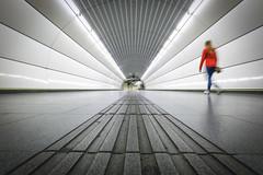 Long Corridor (CoolMcFlash) Tags: tube tunnel architecture corridor lines leadingline person woman walking motion blur vienna station modern futuristic streetphotography street fujifilm xt2 architektur korridor durchgang linien fluchtpunkt frau gehen bewegung bewegungsunschärfe futuristisch fotografie photography xf 1024mm f4 r ois city stadt citylife