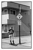 San Diego Boardwalk / (c) abottleinthesea (a_bottleinthesea) Tags: california californie sandiego roadtrip nikon f100 nikkor50mmf14d kodak trix 400tx ilfosol3 filmisnotdead believeinfilm homeprocessing analogphotography boardwalk beach pacificbeach noiretblanc blackandwhite monochrome etatsunis skateboard longboard