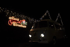 Very Wonderful Decorations (katy1279) Tags: smileonsaturday xmasdeco christmas vwcamper vdub vwbus campervan christmaslights