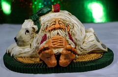 Rest Up For The Trip (chauvin.bill) Tags: davidfrykman santa carving humor holidayseasondecoration
