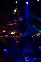Fire Dancer (Chris Cornish Photography) Tags: harbor mary queen actors boat characters dark fall halloween haunt horror longbeach maze monsters october performer scareactor scary september ship spooky themepark female model fire firebreather dancing flame torch beautiful uv blacklight