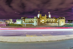 Tower london (Paul Wrights Reserved) Tags: toweroflondon london longexposure clouds aeroplane plane lighttrails lightburst building buildings history historical monarchy bus stop streets londonstreet towerhill dramatic fisheye sky skyscape bright intense landscape england beautiful tower architecture view tourism tourist travel vacation holiday destinations death
