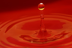 Attirance (Elisabeth Lys) Tags: d7200 nikon 105mmf28 water droplet waterdrop colors highspeedphotography hightspeedphoto red