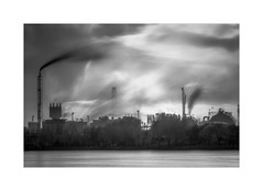 Dancing Sky (W.Utsch) Tags: longexposure industry bnw blackandwhite schwarzweis smoke infrared monochrome cityscape verylongexposure bwnd110 nd neutraldensity black white art fog atmosphere dark