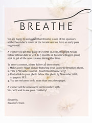 Win Arcade early access and Breathe's Bloggers Group spot for 3 months! ([Breathe]) Tags: breathe arcade