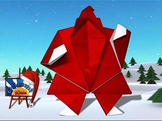Origami Santa Claus by Akira Yoshizawa