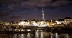 Ayr at night  looking over to the new bridge... (Catherine Cochrane) Tags: bridges water towns ayr ayrshire nightshots sky building light clouds architecture travel explore photography beautiful outdoors bridge