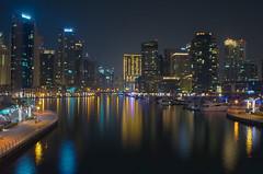 Dubai Marina (Marwanhaddad) Tags: dubai night marina nightscape nightphotography reflection building skyscraper boat river