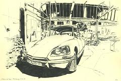 L'Atelier de Jojo - Strasbourg (lolo wagner) Tags: citroën ds voiture car garage atelier strasbourg