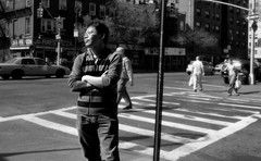 Standing in Manhattan (This way comes but once) Tags: new york manhattan west village 6avenue 11street