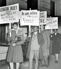 Picket for fair employment practices (2): 1946 (Washington Area Spark) Tags: fair employment practices commission fepc permanent picket protest filibuster us senate hoey washington dc raleigh hotel marie richardson harris 1946 eeoc history african american black clyde