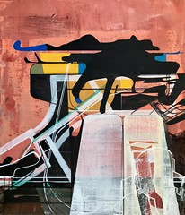 Jim Harris: Dream Hologram Projection Station. (Jim Harris: Artist.) Tags: lartabstrait abstract art arte painting avantgarde technology technik space futuristic landscape dream schildreji peinture zeitgenössische kunst kunstzeitgenössische künstler konst hologram
