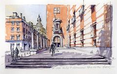 La Casa de las Siete Chimeneas (f.gómezcorisco) Tags: dibujo rotulador madrid castejao apunte boceto arquitectura acuarela