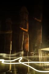 DSC_8158 (Copy) (pandjt) Tags: chilliwack bc britishcolumbia stólō stolo yakweakwioose firstnation yakweakwioosefirstnation terryhorne chiefterryhorne welcomefigures welcome sculpture carving publicart nightphotography longexposure lightpainting