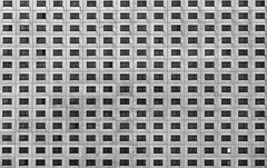 Windows 22.4 (laga2001) Tags: leipzig facade windows 224 advent calendar house building black white bw monochrome architecture structure pattern texture geometry repeating repetition