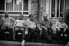 End of ramadan in Kurdistan. Family members gather for a huge breakfast. (rvjak) Tags: kurdistan irak iraq ramadan black white noir blanc bw men hommes d750 nikon family famille breakfast petit déjeuner lunettes de soleil sunglasses smile wait