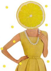 Lemony (dadadreams (Michelle Lanter)) Tags: fruit fruity collageart citrusfruit yellow lemon lemonhead lemony