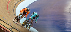Effort (Meredith Lewis) Tags: manchester greatermanchester england gb greatbritain matthijsbuchli velodrome cyclist britain sprint bicycles unitedkingdom bicycle harrielavreysen 2017tissotucitrackcyclingworldcupmanchester cycling europe uk nationalcyclingcentre