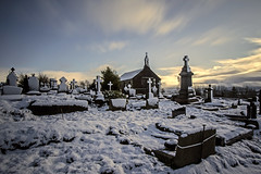 The Heights Church - Delph - Saddleworth (Craig Hannah) Tags: theheights heights delph saddleworth stthomaschurch friarmere pennine pennines snow winter 2017 november craighannah westriding yorkshire oldham greatermanchester longexposure bigstopper gravestones graveyard sky clouds england uk uplands amonstercalls filmlocation church heightschurch
