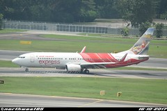 VT-AXZ (northwest85) Tags: air india express vtaxz boeing 7378hgsfpwl taxiing gate singapore changi airport ix axb sin wsss