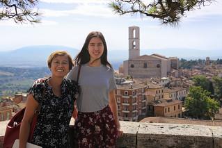 Kanitha and Samantha enjoying the capital of Umbria