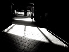 Streetphotography Streetphoto_bw Sunlight Shadow Built Structure Architecture Indoors  Real People Day Light And Shadow Blackandwhite Blackandwhite Photography Monochrome Station The Week On EyeEm Exit Composition Contrast Urbanphotography Urban Explorati (Eugene Kong) Tags: streetphotography streetphotobw sunlight shadow builtstructure architecture indoors realpeople day lightandshadow blackandwhite blackandwhitephotography monochrome station theweekoneyeem exit composition contrast urbanphotography urbanexploration tiledfloor waiting cityscape