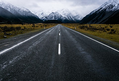 Road to Mt. Cook (tehroester) Tags: road mount cook new zealand landscape nature wild scenery snow cold ice nikon d3300