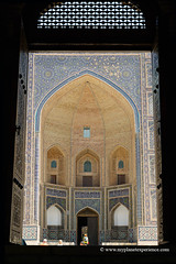Uzbekistan (My Planet Experience) Tags: bukhara buxoro poikalyan ensemble miriarab madrassah kalyan door entrance mosque unesco worldheritagesites muslim architecture silk road route central asia oʻzbekiston узбекистан uz uzbekistan ouzbékistan myplanetexperience wwwmyplanetexperiencecom