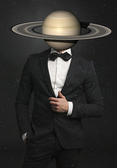 Mr. Saturn (Lightcrafter Artistry) Tags: photoshop collage saturn space universe art
