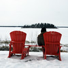 Sit and Ponder (Sybaristail of Sybaristail Photo & Art) Tags: alberta canada lake life peace ponder quiet view winter canada150 frozen frozenlake lakeview nationalpark redchair viewpoint albertacanada