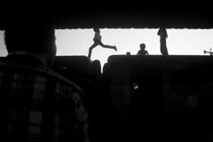 one step closer to the end (A t i k R a h m a n) Tags: lifestyle bangladesh asia nikon d7100 blackwhite children street dark shadow