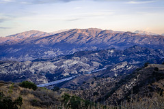 Santa Clarita From Towsley Canyon (Robrobrobert123) Tags: hike hiking nature walk evening sunset nikond750 sigma85mm14art towsley canyon santaclarita california valencia landscape photography mountains dusk freeway i5