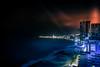 Cartagena de Indias at Night (R.Halfpaap) Tags: cartagena de indias bocagrande colombia night skyline caribbean sea ocean coast skyscrapers