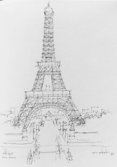 Just an amazing feat of engineering (schunky_monkey) Tags: fountainpen journal travel penandink ink pen illustrator pleinair illustration art drawing draw sketchbook sketching sketch structure engineering architecture tower icon monument landmark europe france paris eiffeltower