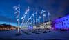 Suomi 100 (Antti Tassberg) Tags: yö lippu talvi kauppatori longexposure kaupunki suomi100 suomi helsinki city cityscape dark finland lowlight night nightscape scandinavia urban winter uusimaa fi
