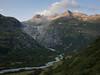 Birth of the river Rhône (lvalgaerts) Tags: furka gross bielenhorn low sun rock glacier sidelengletscher gletscher pass drive grimsel rhône rhone rhonegletscher