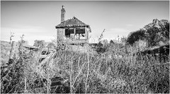Railway Line . (wayman2011) Tags: lightroomfujifilmxt10fujifilmxf18mmf2 wayman2011 bwlandscapes mono rural railways railwaylines signalboxes pennines dales teesdale countydurham uk