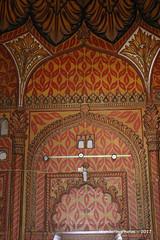 Wall Painting - Tipu Sultan's Tomb & Mausoleum - Gumbaz Srirangapatna Mysore Kanataka India (WanderingPJB) Tags: flickruploaded orange india karnataka mysore tipusultan tomb mausoleum gumbaz srirangapatna decoration painting pattern