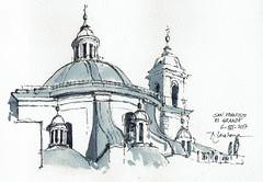 San Francisco el Grande (P.Barahona) Tags: arquitectura urbano cúpula torres tinta acuarela