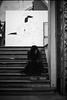 Solitudine (MaxDeVa) Tags: 50mm ishootfilm kentmere400 150 film torino paratissima silverfast8se buyfilmnotmegapixels r09oneshot leica 400asa epsonv800 ggrfilter rodinal summiluxm blackandwhite filmisnotdead bw f14 analog m7 streetphotography scale ragazza