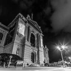 Not A Monster (TVZ Photography) Tags: monaco montecarlo muséeocéanographiquedemonaco oceanographicmuseum monacoville monacocity therock building architecture night evening longexposure blackandwhite monochrome square 1x1 sony a7r voigtlander 21mm ultron cotedazur frenchriviera