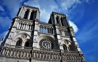 Notre Dame y sus nubes
