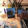 Practice Snowy Owl/ tonal (eddyandtroymike@yahoo.com) Tags: art practice tonal