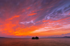 sunset 1604 (junjiaoyama) Tags: japan sunset sky light cloud weather landscape purple orange contrast color bright lake island water nature fall autumn
