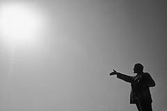 Budapest (Memento Park), 2001 (Joseff_K) Tags: budapest mementopark szoborpark statue bw nb parc park noiretblanc blackandwhite lenine lenin film leicam6 leica m6