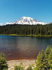 Mount Rainier and the lake (wirehead) Tags: mountrainiernationalpark mountrainier mountain em5mk2 14150mm lake water