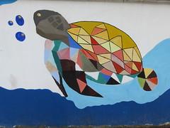 Vietnam - South Vietnam - Ho Chi Minh City - Street art - Turtle (JulesFoto) Tags: vietnam hochiminhcity saigon streetart mural turtle