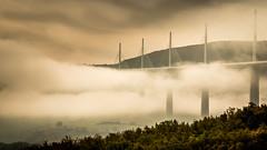 rester au dessus (glookoom) Tags: france landscape bridge forest cloud fog millau sky aqueduc outdoors noperson architecture light