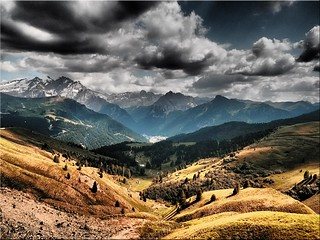 The Dolomites - view from the Sella Pass