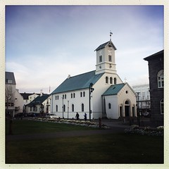 Reykjavik Cathedral (breakbeat) Tags: icelandicchurch iceland travel church religion nordic north architecture traditional sky building tower road grass